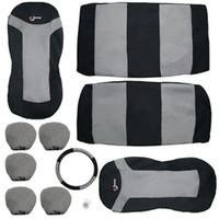 almofada de carro cinza venda por atacado-10 pcs BlackGray Assento de Carro Cobre Set Mat Almofada Protector Pad Car Care Brand New
