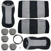 ingrosso cuscino grigio auto-10pcs BlackGray Car Seat Covers Set Mat Cuscino Protector Pad Car Care Nuovo di zecca