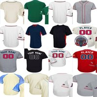 Wholesale Atlanta Homes - Mens Womens Kids Atlanta Home 2017 Flex base Coolbase Custom Any Name & Number baseball Jersey Commemorative Patch White Grey Red Navy Cream