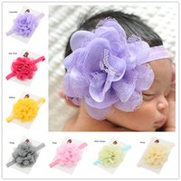 Hairbands Chiffon Solid 40 pcs baby Chiffon lace flowers headbands Little Girls Hair Accessories Cheap Hair Bows Newborn Baby Photo Prop Casual Headwear