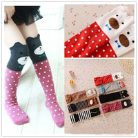 Wholesale Crochet Childrens Clothes - Cat Knit Knee High Socks Children Clothes Child Clothing 2015 Boys Girls Crochet Socks For Kids Best Socks Childrens Socks Kids Sock C14116