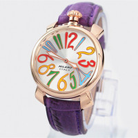 Wholesale Luxury Ladies Watches Brands - 2016 hot Sale Famous lady Watch purple Leather Women Fashion Dress Wristwatch Luxury High Quality Stainless steel famous brand design