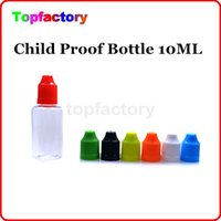 Wholesale Ego Needle Bottle Cap - Fast shipping eGo Empty Needle Empty Bottle 10ml Plastic Dropper Bottles with CHILD Proof Caps for E Liquid PE PET bottles