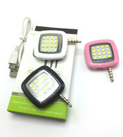 Wholesale 16 Led Flash - Built-in 16 led lights iblazr LED FLASH for Camera Phone support for multiple Photography mini selfie sync led flash Spotlight