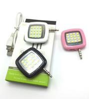 fotografía de iluminación de foco al por mayor-Luces de led incorporadas de 16 LED iblazr para la compatibilidad con el teléfono con cámara para fotografía múltiple mini selfie sync led flash Spotlight