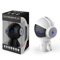 Intelligente Bluetooth Wireless Robot Lautsprecher Mini Bass Stereo Musik Box Smart Freisprecheinrichtung Lautsprecher und Power Bank Funktion