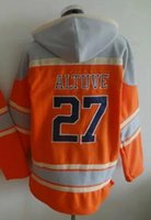 Neue Houston Hoodies # 27 Altuve Baseball Jersey Fleece Hoodies Jerseys Orange Farbe Größe M-XXXL Mix Bestellen Alle Hoodies Trikots