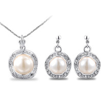 Wholesale Gold Jewelery Sets - earring,ring and necklace set, american and european style pearl jewelry set,elegant summer jewelery set,concise jewelery set LG201-98