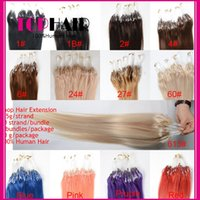 New Arrival Indian Remy cabelo humano extensões Loop cabelo 18 polegadas barato Straight Loop Micro Ring Hair Extensions 100pcs / lot