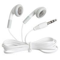 телефонная шина оптовых-Одноразовые дешевые простые белые наушники-вкладыши наушники гарнитура для автобуса или поезда для мобильного телефона MP3 MP4