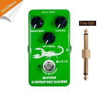 Wholesale Guitar Effect Compressor - JOYO JF-10 Dynamic Compressor Guitar AMP Effect Pedal True Bypass Green metal pedal