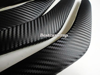 Wholesale Grid Roll - High Quality Big Grid texture 3D Black Carbon Fibre like 3m texture With Bubble Air Carbon body wraps Free Shipping 152x30m Roll