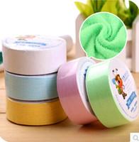 use una toalla comprimida al por mayor-Toalla comprimida portátil de tamaño de viaje de secado rápido La plaza mágica de algodón se puede usar repetidamente