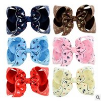 Wholesale Navy Hair Clips - 11 CM Baby girls hairpins navy style child anchor printed Bows hair clip kids grosgrain ribbon Bows barrettes hair grip christmas gift R0710