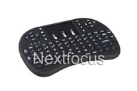Wholesale Fly Notebook - Fly Air Mouse Rii Mini i8 2.4GHz Wireless QWERTY Keyboard Touchpad for PC Pad Notebook Google S905 New Android TV Box Xbox 360 PS3 HTPC IPTV