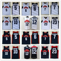 Wholesale Basketball Jersey Usa - 2012 Olympic Games USA Dream Team #5 Kevin Durant #6 James 12#James Harden Jersey 7# Westbrook 10#Kobe Bryant Basketball Jerseys