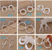 Wholesale Sterling Silver Drop Earings - mixed 925 Sterling Silver Jewelry drop Earings 2014 Brand New free shipping Beautif Earrings Dangle Earrings Mix Order 1762