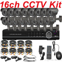 Wholesale Top Best Dvr Camera - Top selling best quality 16ch channel cctv kit whole set cctv system install sony 700TVL security video zoom lens camera 16ch D1 DVR HDMI