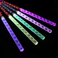 glühender kristall führte großhandel-26 cm Kristall Licht Stick Led Konzert Knicklicht Bunte Kunststoff Blitzlicht Jubeln Elektronische Zauberstab Weihnachten Spielzeug Q0188