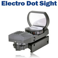 Wholesale Electro Sight - 4 Red Green Dot Reticle Tactical Reflex Electro Dot Sight Scope with Mount for Gun