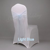 """Wholesale Wholesale Bridal Stores - Whoesale 100 pcs Light Blue 7"""" x 108"""" Organza Chair Sash Bow Decor For Bridal Wedding Party More than 40 colors in our store"""