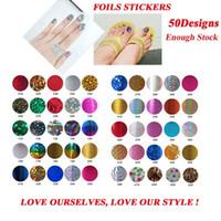 Wholesale Fingernail Decals Stickers - Nail Art Foil Stickers & Decals,Fashion 50Designs(100pcs lot)Leopard Nail Transfer Craft,Fingernails Wraps Decorations Accessory