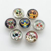 Wholesale Lucite Bangle Bracelets For Sale - Hot Sale Skull Series 12MM Cartoon Metal Snap Button 20PCS Lot Mixed Styles DIY Snaps Charms For Wristband Bracelets Bangle S05