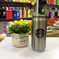 Wholesale Popular Coffee Mugs - Popular Double Wall Insulated 14.5 oz Stainless steel Starbuck Thermo Bottle with Flip up Straw Coffee Mug Travel Tumbler