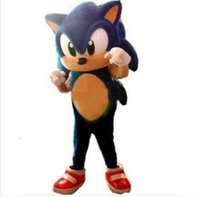 Wholesale Sonic Hedgehog Costume Adults - 2016 Newest Style Sonic the Hedgehog Mascot Costume Adult Size Blue Knuckles Sonic the Hedgehog Mascotte Outfit Suit