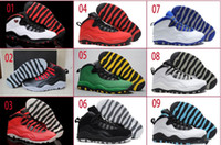 Wholesale Fusion Sports - 14 Colours (With Box)Wholesale Retro 10 X Oregon Ducks Bulls Over Broadway GS Fusion Red Powder Blue Men Basketball Sport Shoes