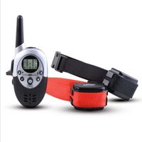 Wholesale Dog Collars Rechargeable - 2 Dogs Trainer 1000M Waterproof Rechargeable LCD Remote Pet Dog Training Collar Electric Shock Large Dog Control