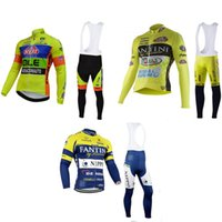 Wholesale Thermal Fantini - Wholesale-team New Style fantini cycling clothing thermal long sleeves and long bib kits winter maillot+culote ninos ropa ciclismo