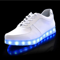 Wholesale Wholesale Adult Sneakers - LED luminous shoes men women fashion sneakers USB charging light up sneakers for adults colorful glowing leisure flat shoes