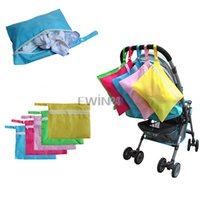 Wholesale Selling Strollers Wholesale - Hot Selling! Baby Waterproof Dirty Cloth Diaper Nappy Stroller Pram Storage Organizer Zip Bag Free Shipping