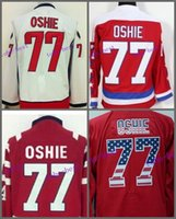 Wholesale Cheap Hockey Jerseys Washington - Men's New Washington TJ Oshie Hockey Jerseys 77 T. J. Oshie Jersey Home Red Winter Classic Cheap TJ Oshie Stitched Jersey
