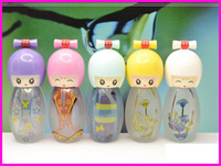 Wholesale Glass Sink Tops - 500PCS 20ML Frosted yuan sink porcelain doll doll perfume bottle empty bottle top quality