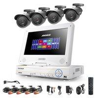 "Wholesale 4ch Lcd Dvr - Annke 10.1"" LCD 4CH 720P 960H DVR NVR CCTV 900TVL Security Camera System 1TB"