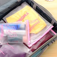 Wholesale Socks Pieces - (5 pieces lot) Waterproof Cloth Classified storage Bag Shirt bra underwear socks Tops Category marker Home Storage And Travel