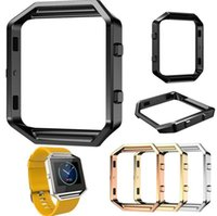Wholesale Covered Watch Band - For Fitbit Blaze Accessory Watch List Box Watch case Frame Holder Case Cover Metal Band For Fitbit Blaze Smart Watch DHL Free