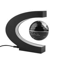 Wholesale levitation floating globe - Electronic Magnetic Levitation Floating Globe Antigravity magic novel light Christmas Gift Xmas Decoration Santa Decor Home
