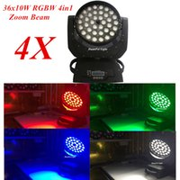 All'ingrosso-DunFly DuanFei Light 4pc / lot 36x10W RGBW LED a testa mobile Zoom Wash Light 4in1 Quad Stage Lighting DJ
