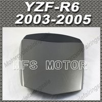 yamaha r6 gri toptan satış-YZF-R6 Motosiklet Arka Pillion için Tüm Gri Enjeksiyon ABS Koltuk Kukuletası Yamaha YZF-R6 2003 2004 2005 Için Kapak