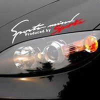 Wholesale Bonnet Mirror - car styling reflective flame Bonnet bumper stickers SPORT Eyelid paste the rearview mirror cover scratches car stickers ACT42