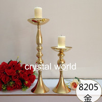 Wholesale Mosaic Candle Holders For Weddings - Tall gold mental Flower Stands Wedding 52 Table Centerpieces for weddings decoration 3