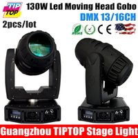 Atacado-TIPTOP 2XLOT 130W Led Moving Head Gobo Luz EUA luminus High Power DMX 13 / 16CH Moving Head luz Spot preço de fábrica TP-L646