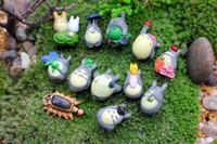 ingrosso figurine totoro-PrettyBaby Anime Cartoon My Neighbor Totoro Bella Mini PVC Figure Giocattoli Bambole Giocattoli Per Bambini Regali zakka figurine resine spedizione gratuita in magazzino