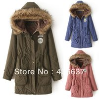 Wholesale Thicken Fleece Parka - Wholesale-Women's Thicken Fleece Faux Fur Warm Winter Coat Hood Parka Overcoat Long Jacket