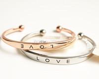 модные браслеты браслеты ювелирные изделия оптовых-Мода женщины любят браслет Браслет золото серебро розовое золото простой bracelts Шарм манжеты ювелирные изделия диам. 6см Drop доставка