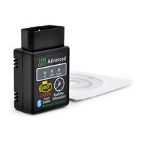 Wholesale Wireless Obd Scanner - New arrival Version 2.1 ELM327 HH OBD Advanced MINI ELM 327 V2.1 Black Bluetooth OBD2 Car CAN Wireless Adapter Scanner Tool