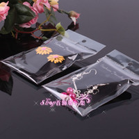 Wholesale Earring Stands Displays - 3.7*5.2cm Hot Sale Earrings Packing Flannelette Cards With Plastic Bag Earring Display Packing Card Wholesale Free Shipping 0018-100PACK